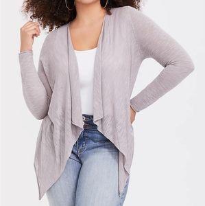 Torrid Grey Lightweight Open Cardigan Sweater 1X